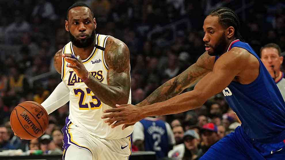 Photo of LeBron y Davis guían a Lakers