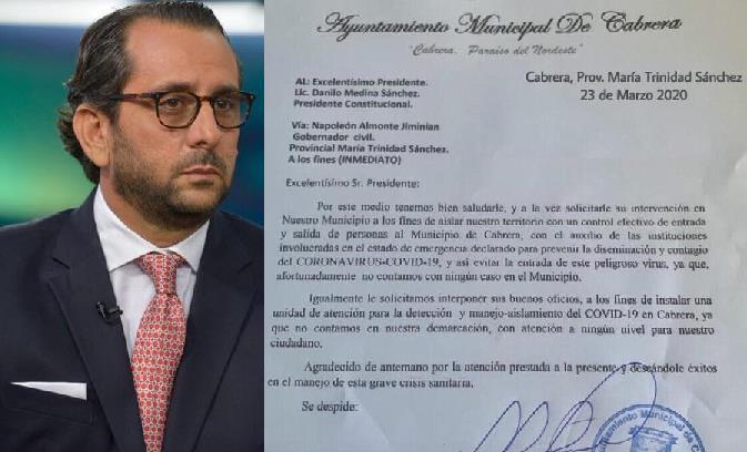 Photo of CABRERA: Alcalde pide al Presidente aislar municipio para evitar Covid-19