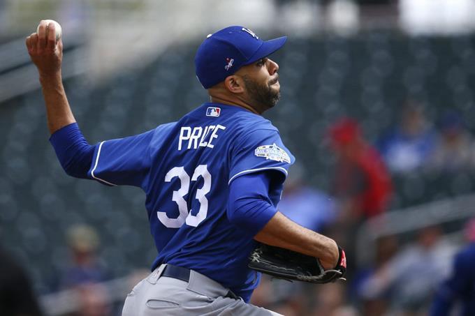 Photo of Price en pobre debut con uniforme de los Dodgers