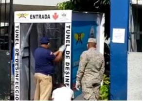 Photo of Instalan túnel sanitizante en dirección policial de SFM