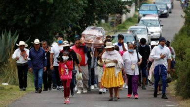 Photo of México presenta su día de más muertes y contagios de COVID-19 con 501 y 3.455