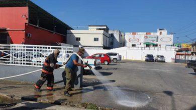 Photo of Ayuntamiento realiza operativo de desinfección en área comercial SFM