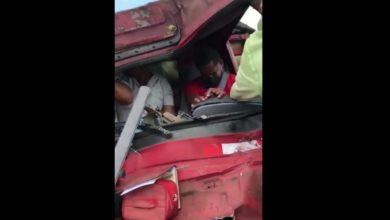 Photo of Hombres quedan atrapados en camión tras accidente en SFM