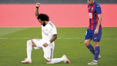 Photo of Madrid vence al Eibar y Marcelo se arrodilla