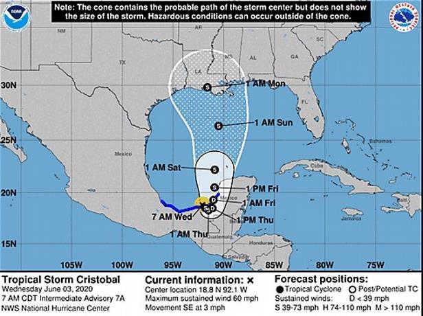Photo of Tormenta tropical Cristóbal estará dos días ante costa mexicana de Campeche