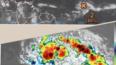 Photo of Onamet informa sobre zona de aguaceros con 60% de posibilidad de convertirse en ciclón tropical