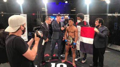 Photo of Wascar Cruz es el primer campeón dominicano en Artes Marciales Mixtas